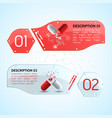 pills horizontal banners set vector image