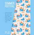 poster summer festival at city park vector image