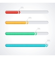 Progress loading bars vector image