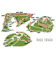 race tracks for brazil and italy arab emirates vector image vector image