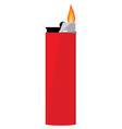 Red pocket lighter vector image