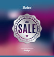retro silver sale badge vector image vector image