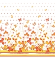 Seamless spring white floral pattern with orange vector image vector image
