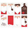 set christmas label vector image vector image