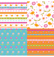 set fairy doodle patterns vector image vector image