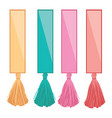 set of ribbons with colorful decorative vector image vector image