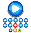 shiny eps10 audio buttons play button stop rec vector image