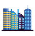 skyscrapers city urban buildings exterior vector image vector image