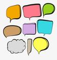 Speech bubbles vector image