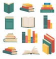 stack books in flat design collection vector image vector image
