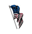 usa first flag in engraved style vector image vector image