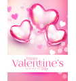 valentine s day design template with glossy heart vector image vector image