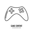 video game content icon vector image