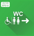 wc toilet icon business concept men and women vector image vector image