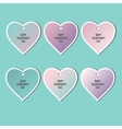 Set of stickers Valentines Day vector image