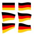 Set of german flags vector image