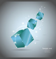 Abstract cubes with glow eps10 vector image vector image