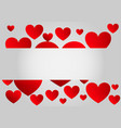 abstract red paper hearts background vector image