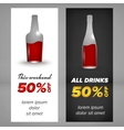 Alcohol banner design vector image vector image