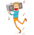 anywhere anytime music vector image