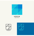 arrow trendy minimalistic template design vector image