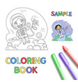 astronaut coloring page vector image vector image