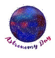 astronomy day background vector image