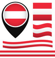 austria flag austria ensign waving austria flag vector image