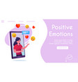 banner friendly woman comments online chat vector image