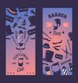 barbershop for vertical banner vector image