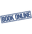 book online stamp vector image vector image