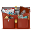 Briefcase with Accessories vector image vector image