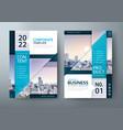 brochure flyer book cover templates vector image vector image