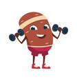 cartoon potato cute mascot vegetable training vector image vector image