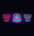 casino royal neon logo casino neon sign vector image