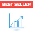 chart icon the symbol for your web site design or vector image vector image