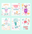 childish scandinavian style postcards templates vector image vector image