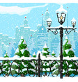 christmas city winter landscape vector image