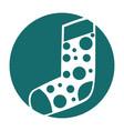 christmas sock isolated icon vector image