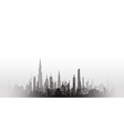 cityscape with fade black vector image vector image
