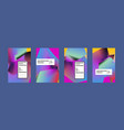 colorful abstract fluid gradient pattern vector image vector image