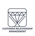 customer relationship management line icon concept vector image vector image