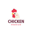 cute chicken rooster flat logo icon vector image vector image