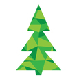 diamond tree green vector image