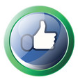 facebook like symbol inside a green circle icon vector image