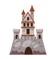 fantasy castle icon cartoon style vector image