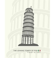 figure leaning tower of Pisa vector image