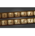 film countdown vector image vector image