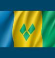 flag saint vincent realistic icon vector image