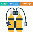Flat design icon of scuba vector image vector image